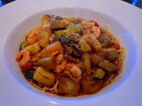 パスタまにあ_地中海野菜のピリ辛スープスパ