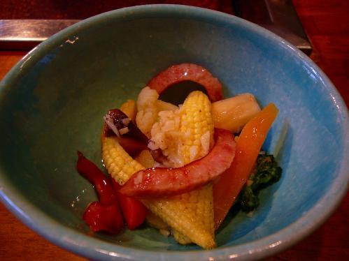 萬野_ベーコンと野菜のマリネ