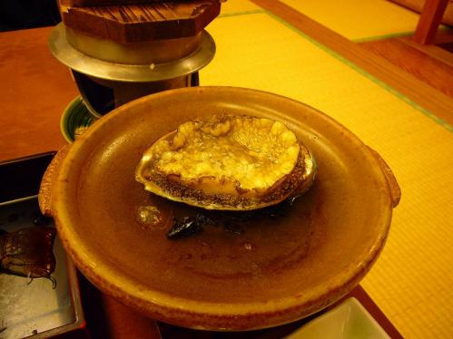 ニュー浜島_晩御飯_鮑の陶板焼き