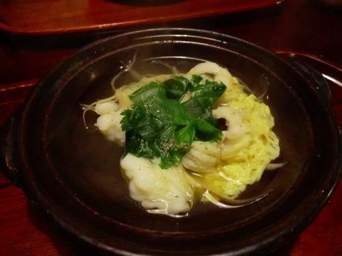 天ぷら松_鱧なべ