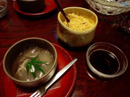 天ぷら松_わらび餅