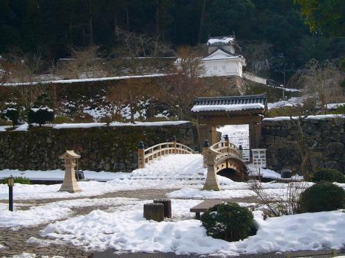 出石城跡_雪