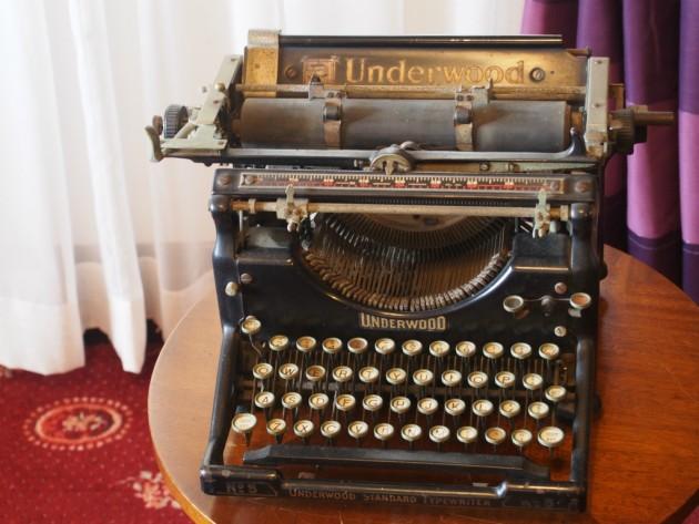 うろこの家タイプライター