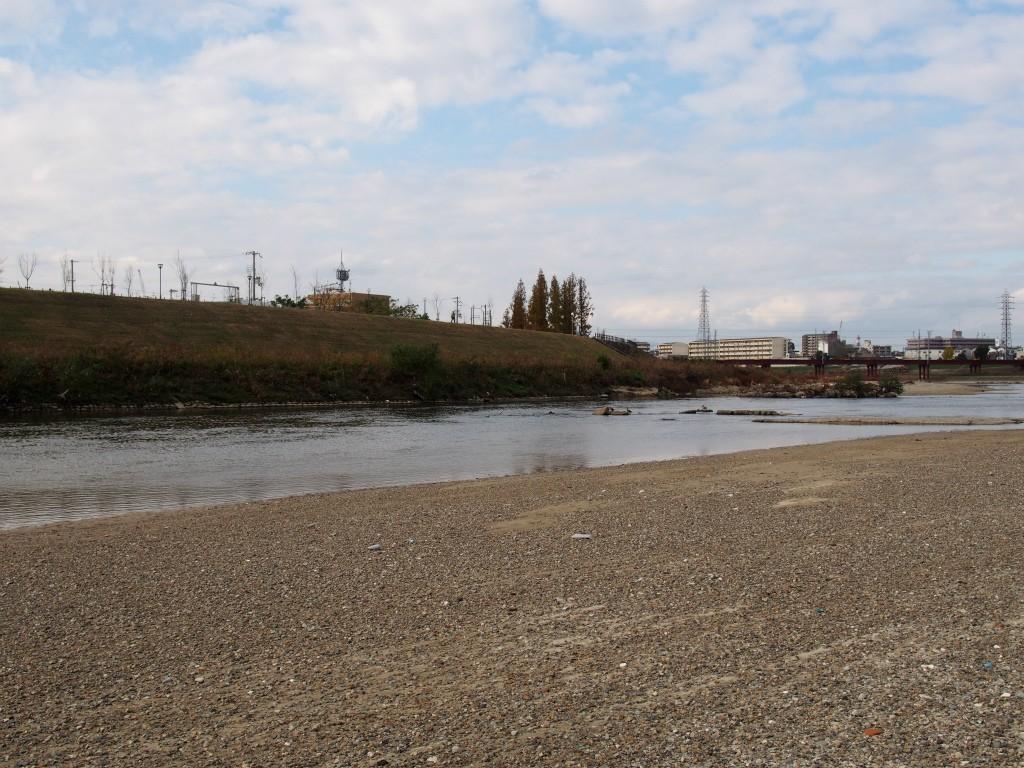 大和川に降りてみた